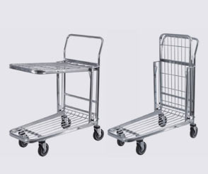 Stock Trolley with Foldable Shelf